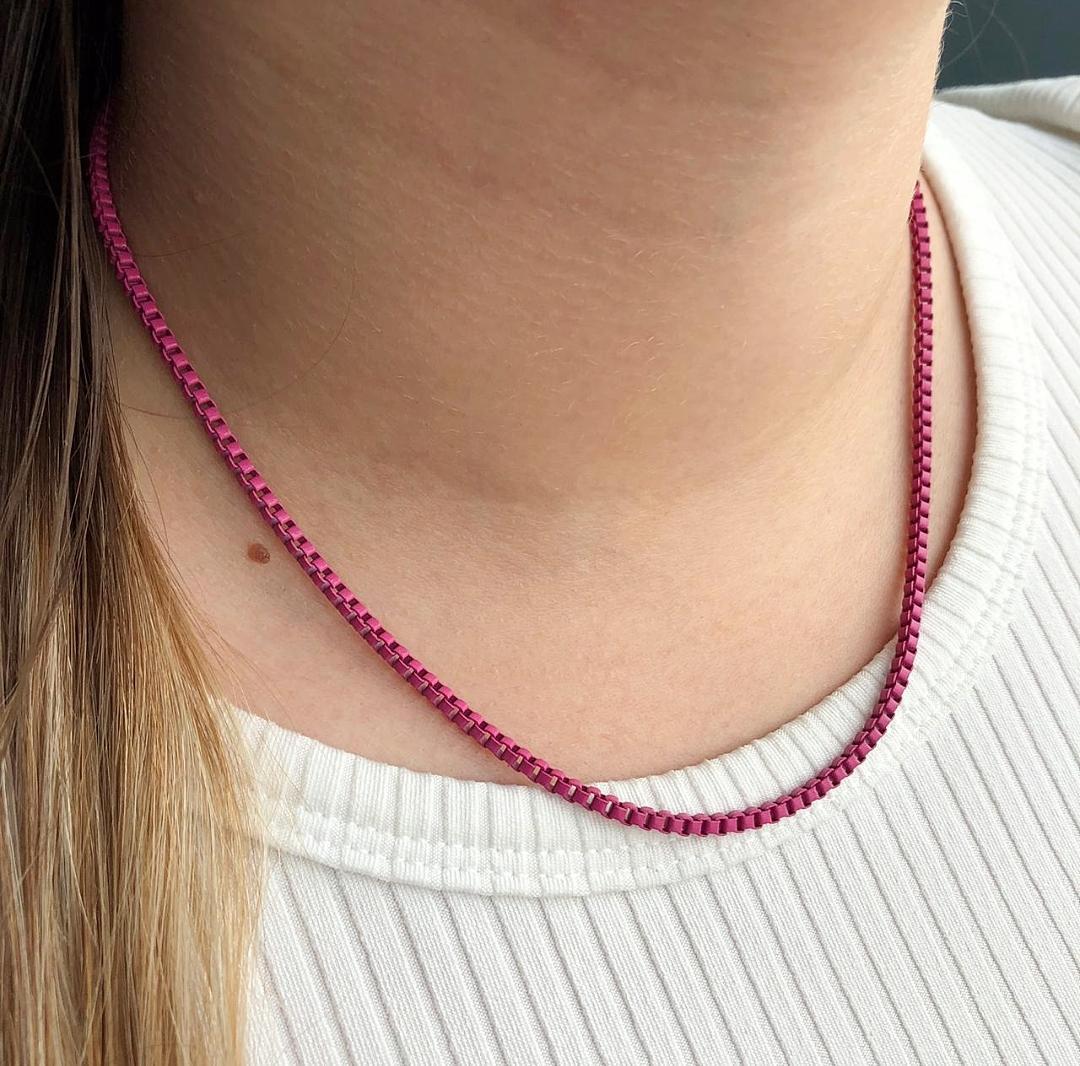 Colar Colors Veneziana Pink