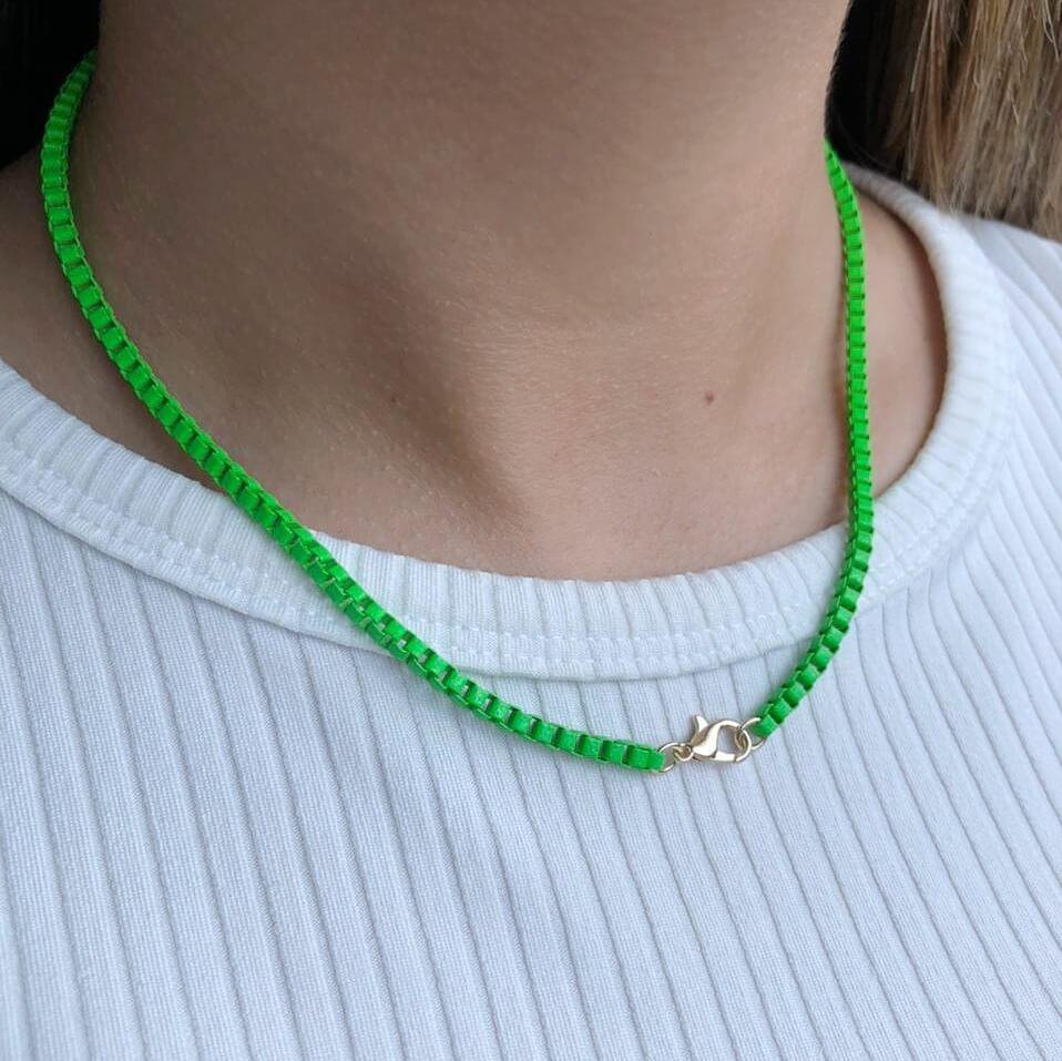 Colar Colors Veneziana Verde Grama