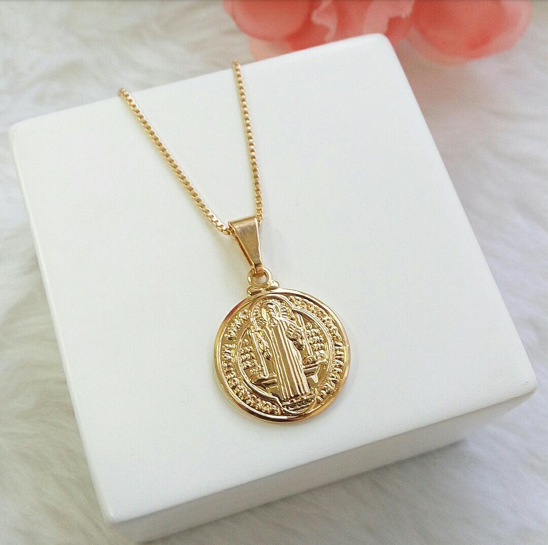 Colar Medalha São Bento