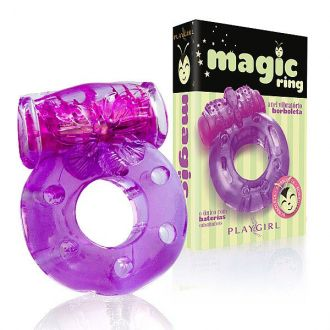 ANEL PENIANO COM VIBRO BORBOLETA MAGIC RING