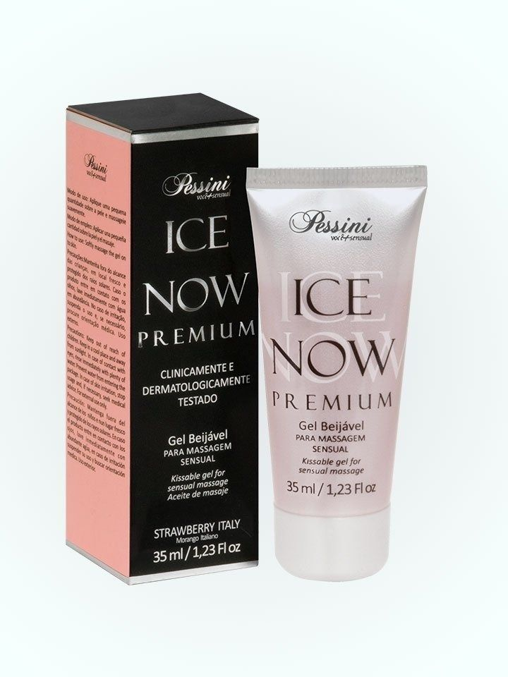 GEL BEIJÁVEL TÉRMICO ICE NOW PREMIUM STRAWBERRY ITALY 35ML