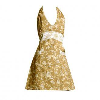 Avental Cozinha Kate Floral Bege 80x85cm