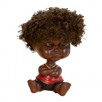 Bebê Decorativo Black Power Vermelho