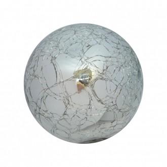 Bola Decorativa em Vidro Espelhado Craquele Prata