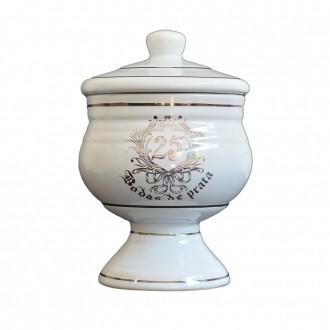 Bomboniere de Cerâmica Bodas de Prata