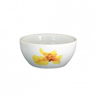 Bowl Pequeno de Cerâmica Orquídea Amarela