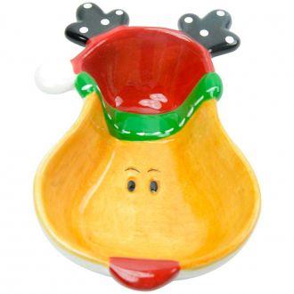 Bowl Decorativo em Cerâmica Rena de Natal