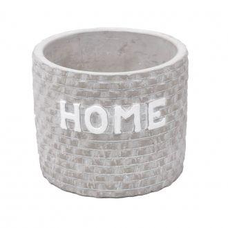 Cachepot Concreto Home Tijolos Cinza