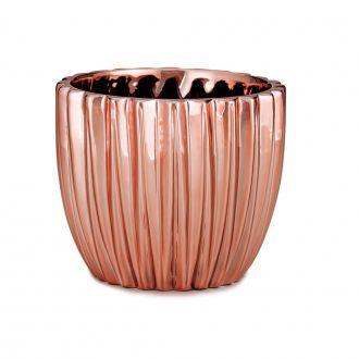 Cachepot em Cerâmica Rosé Gold Pequeno