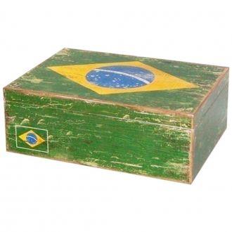 Caixa Decorativa de Madeira Brasil