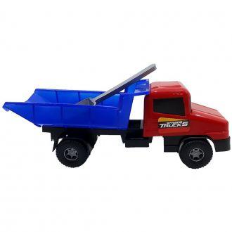 Caminhão Basculante de Brinquedo com Pá Vermelho/Azul