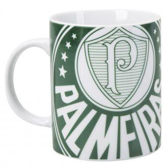 Caneca Cilíndrica Cerâmica 350ml - Palmeiras