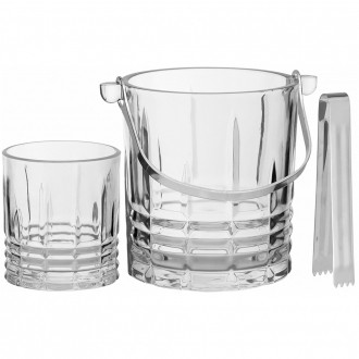 Conjunto para Whisky 7 peças em Vidro Transparente