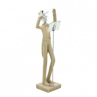 Escultura Decorativa em Resina Maestro 28cm