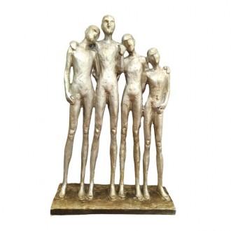 Escultura Decorativa em Resina Pessoas 27cm