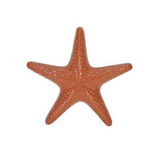 Escultura Estrela do Mar Decorativa em Cerâmica 25cm