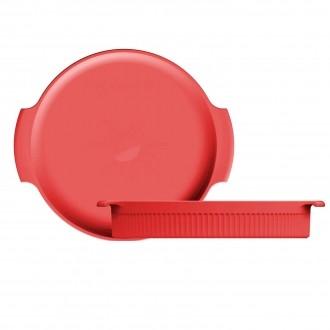 Forma Redonda Porcelana Vermelha 25cm