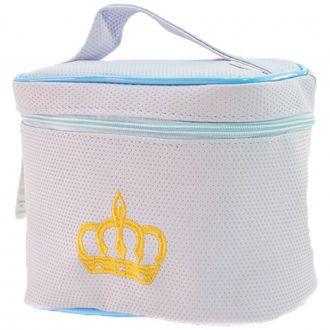 Frasqueira Azul Bebê - Textura de Bolinhas
