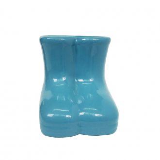 Galocha Decorativa em Cerâmica Azul Serenidade