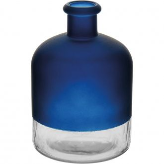 Garrafa de Vidro Decorativo Riviera Azul 15cm