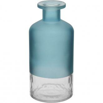 Garrafa em Vidro Decorativa Riviera Azul 15cm
