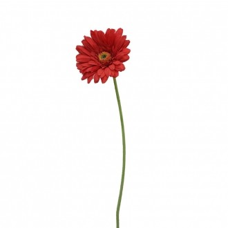 Gérbera Artificial Vermelha Toque Natural 65cm