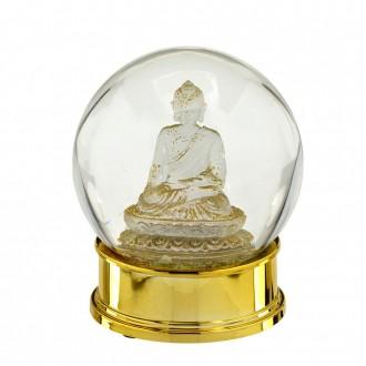Globo de Água em Vidro Buda Dourado