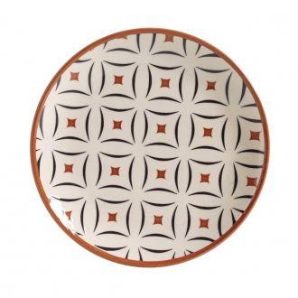 Jogo de 6 Pratos de Sobremesa 20cm - Coup Geometria