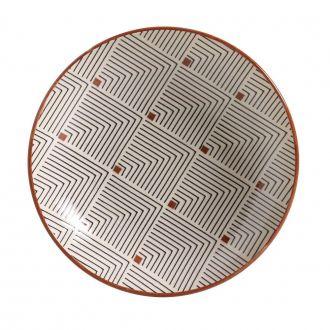 Jogo de 6 Pratos Fundo 21cm - Coup Geometria