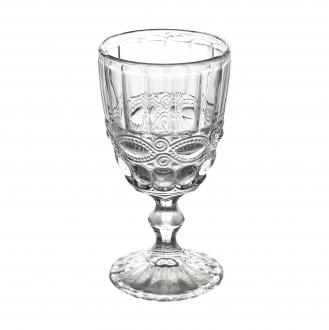 Jogo de 6 Taças para Vinho de Vidro Libélula Diamond Transparente 265ml