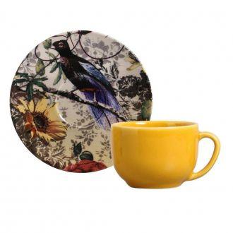 Jogo de 6 Xícaras de Chá com Pires 198ml - Coup Faisan