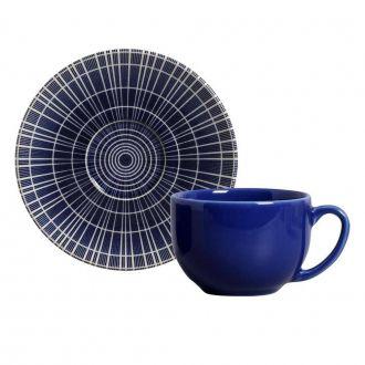 Jogo de 6 Xícaras de Chá com Pires 198ml - Coup Fuji