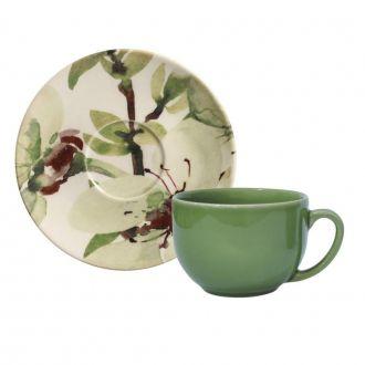 Jogo de 6 Xícaras de Chá com Pires 198ml - Coup Petals