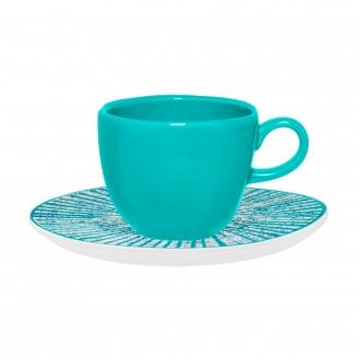 Jogo de 6 Xícaras de Chá com Pires 220ml Ryo Time Oxford