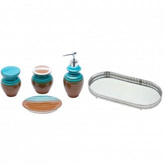 Kit Banheiro com Bandeja Oval