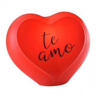 Luminária Coração Vermelho - Te Amo