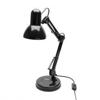 Luminária de Mesa em Metal Pixel Preta E27 25W
