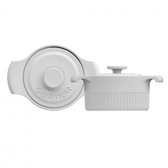 Mini Panela de Porcelana Branca 15cm