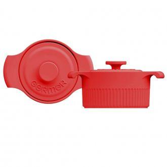 Mini Panela de Porcelana Vermelha 10cm