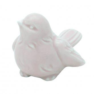 Pássaro Decorativo em Cerâmica Lilás Pequeno