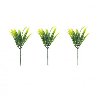 Pick Artificial Folhas com 3 Hastes 22cm Verde
