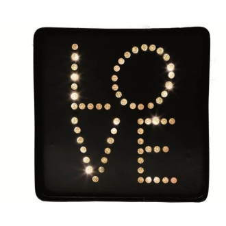 Placa Decorativa Metal com LED Love - Mart