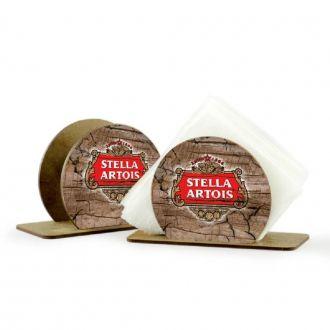 Porta Guardanapo em MDF Redondo Stella Artois