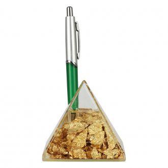 Porta-Lápis e Canetas Pirâmide de Plástico com Líquido