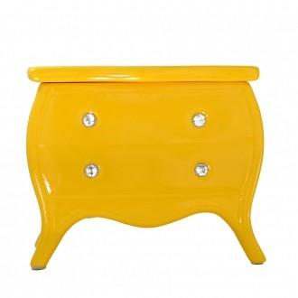 Porta Objetos Cômoda em Cerâmica Amarelo