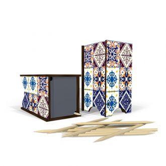 Porta Palito em MDF Azulejo Português