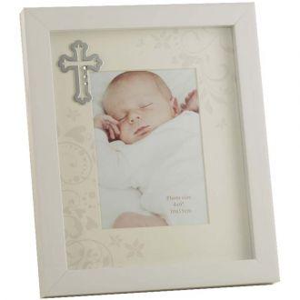 Porta Retrato Branco Batizado 10x15cm