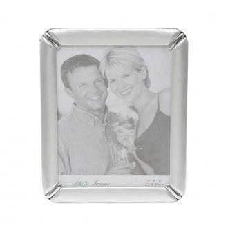 Porta Retrato de Alumínio Escovado Prata