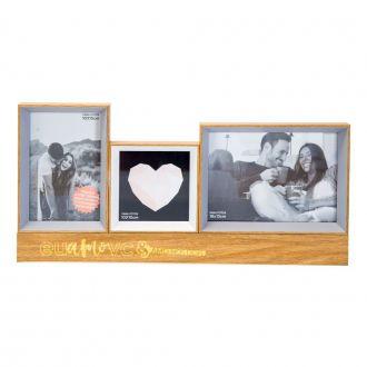 Porta-Retrato de Madeira com Led Eu & Você Definição de Amor