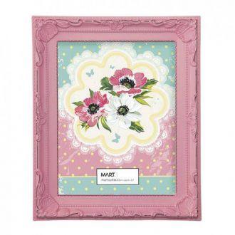 Porta Retrato Retangular Rosa Candy 10x15